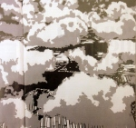 Gerhard Richter: Wolken foto (Rita Koolstra) van foto uit Volkskrantmagazine (vandaar de vouw aan linkerkant).