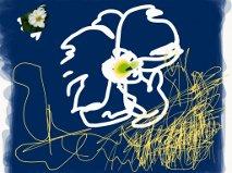 White flower, iPad-kunst