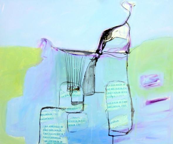 Lachen en huilen, 120 x 100, door Rita Koolstra