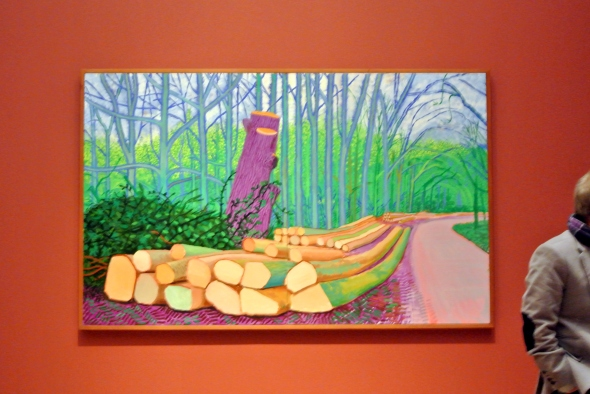 bos met boomstammen door David Hockney, foto Rita Koolstra