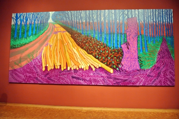 David Hockney 4 jan 2013 in Ludwigmuseum te Keulen
