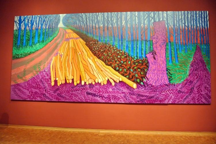 David Hockney 4 jan 2013 in Ludwigmuseum te Keulen