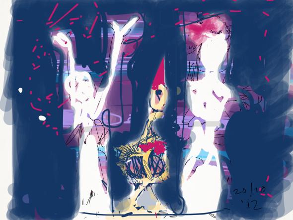 iPad kunst door Rita Koolstra