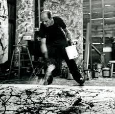 Jackson Pollock aan het werk