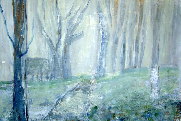 In lessen op de Kunst Academie mochten wij een paar landschappen maken.