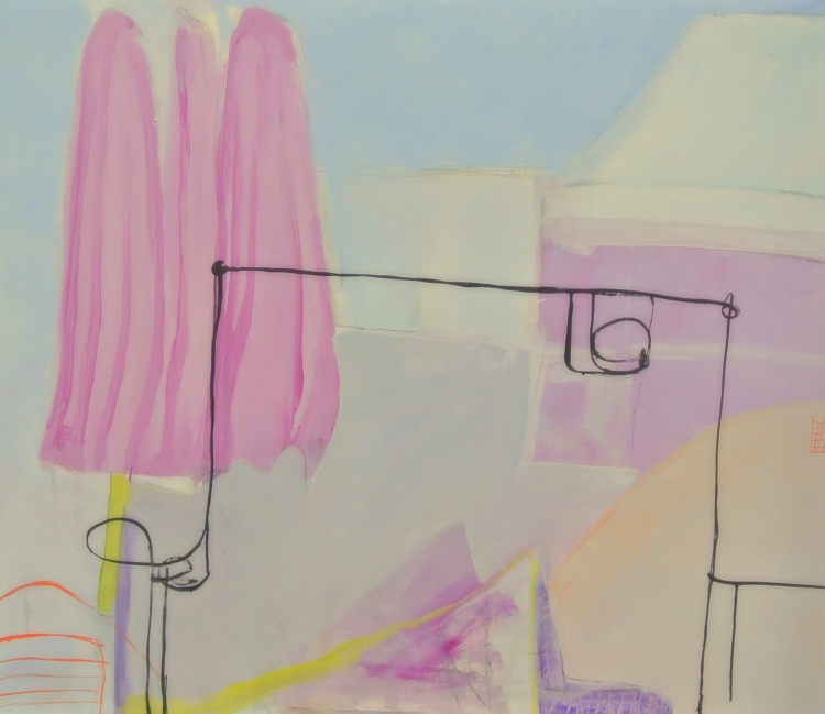 Summertimes are coming. 100 x 120 cm door Rita Koolstra