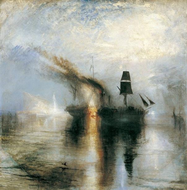Krijttekening, mist, Turner in artikel van Rita Koolstra