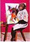 Aap aan het schilderen, bron internet