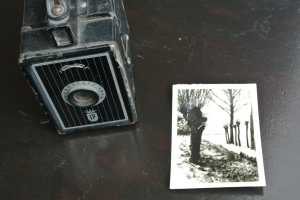Fotoboxje en de eerste foto die Rita op 12-jarige leeftijd maakte. Leuke inspiratie voor een hedendaags schilderij.