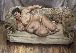 Lucien Freud, schilderij voor artikel door Rita Koolstra