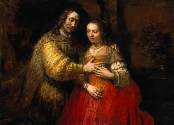 Joods bruidje door Rembrandt.Wereld van Liefde.