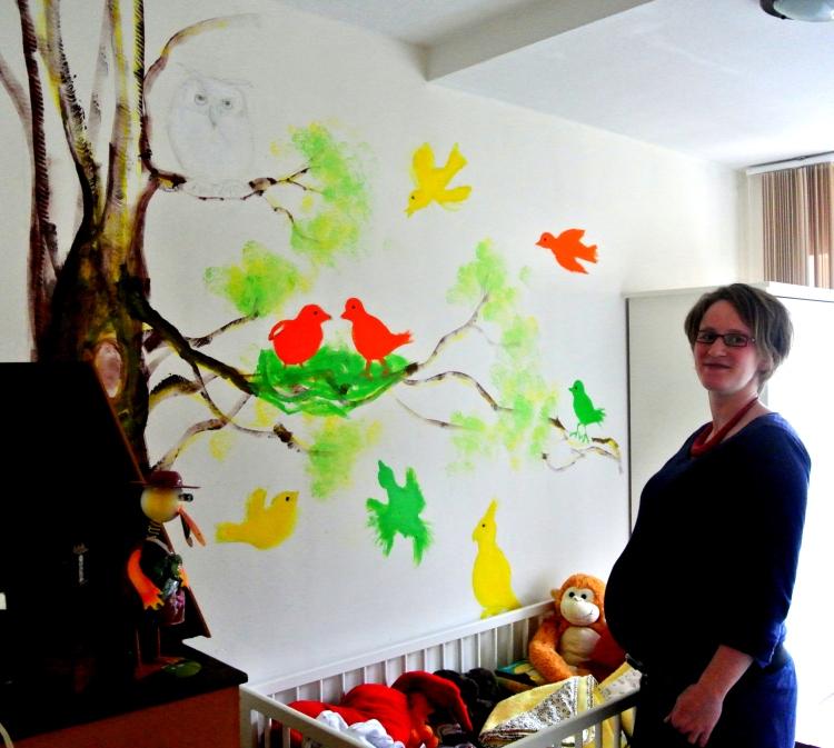 Muurschildering voor kleinkind, Rita Koolstra